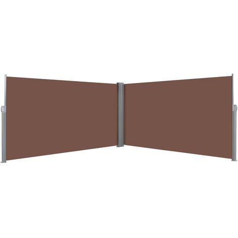 vidaXL Toldo lateral retráctil 160x600 cm marrón - Marrón