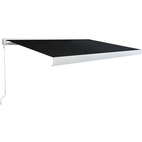 vidaXL Toldo Manual de Carrete Aluminio Tela Gris Antracita Diversos Tamaños