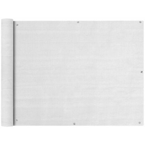 vidaXL Toldo para balcon HDPE 90x400 cm blanco