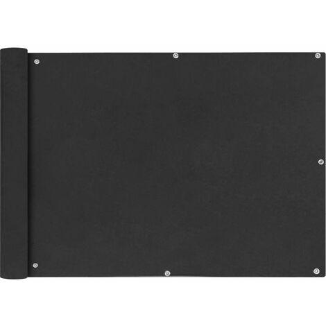 vidaXL Toldo para balcon tela oxford 75x600 cm gris antracita