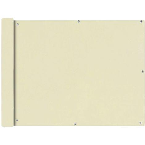 VidaXL Toldo para balcon tela oxford 90x400 cm crema