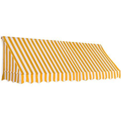 vidaXL Toldo para bar 300x120 cm naranja y blanco