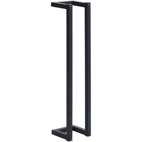 "main image of ""vidaXL Towel Rack Black 12.5x12.5x60 cm Iron - Black"""