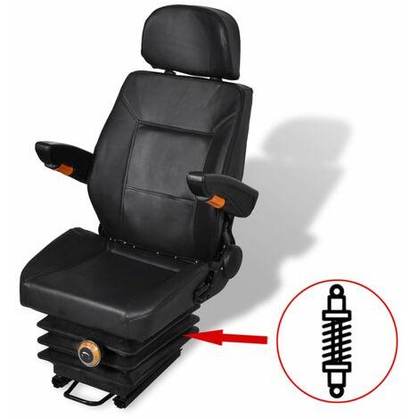 "main image of ""vidaXL Tractor Seat with Suspension - Black"""