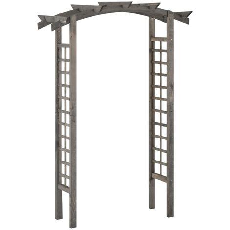 vidaXL Trellis Arch 150x50x220 cm Grey Impregnated Pinewood - Grey