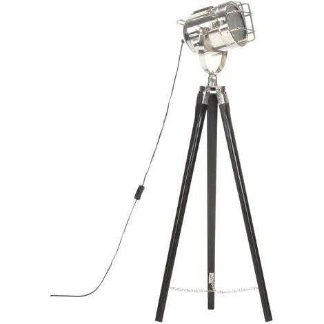 vidaXL Tripod Floor Lamp Black Solid Mango Wood 97 cm - Black