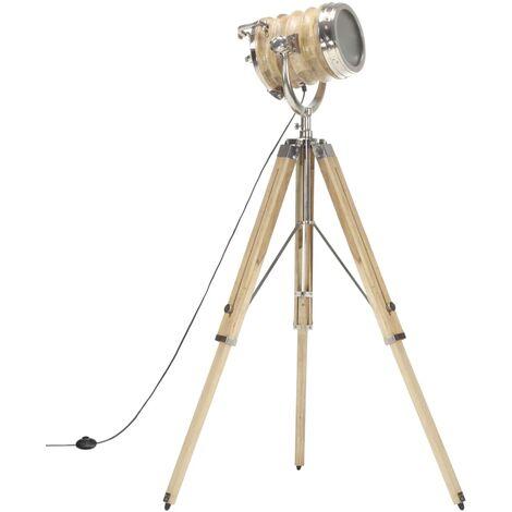 vidaXL Tripod Floor Lamp Solid Mango Wood 131 cm - Brown