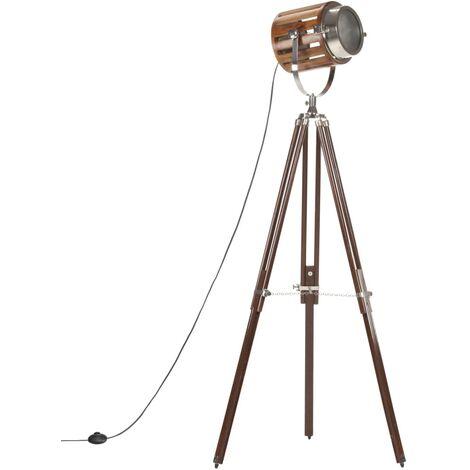 vidaXL Tripod Floor Lamp Solid Mango Wood 186 cm - Brown