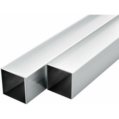 vidaXL Tubos de aluminio cuadrados 6 unidades 1 m 30x30x2mm
