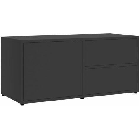 vidaXL TV Cabinet 80x34x36 cm Chipboard White - White