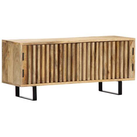 "main image of ""vidaXL TV Cabinet 90x30x40 cm Solid Mango Wood - Brown"""