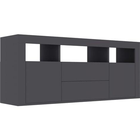 vidaXL TV Cabinet Concrete Grey 120x30x50 cm Chipboard - Grey