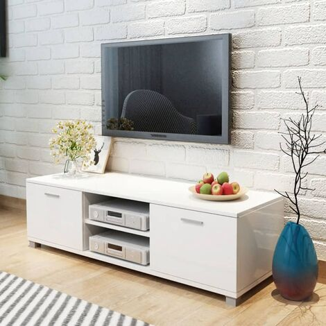 vidaXL TV Cabinet Living Room Furniture Entertainment Media Stand Storage Unit Hifi Stereo Cabinet Sideboard 140x40.3x34.7cm Multi Colours