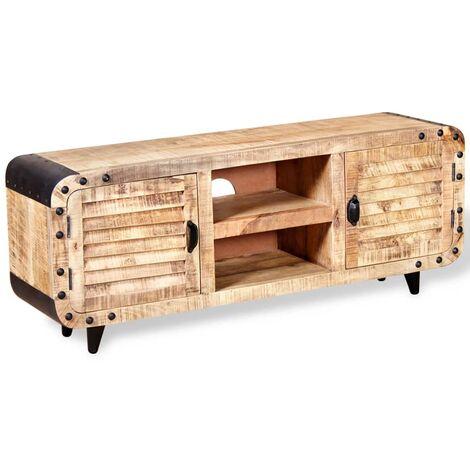 vidaXL TV Cabinet Rough Mango Wood 120x30x50 cm - Brown