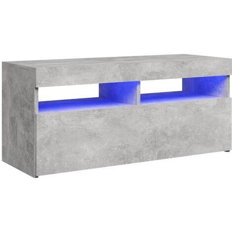 "main image of ""vidaXL TV Cabinet with LED Lights Concrete Grey 90x35x40 cm - Grey"""