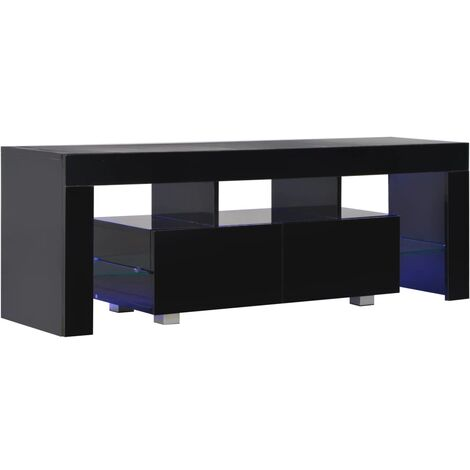 vidaXL TV Cabinet with USB LED Lights High Gloss Modern E1 Chipboard with Melamine Ample Space Stereo Cabinet TV Sideboard TV Unit Multi Colours