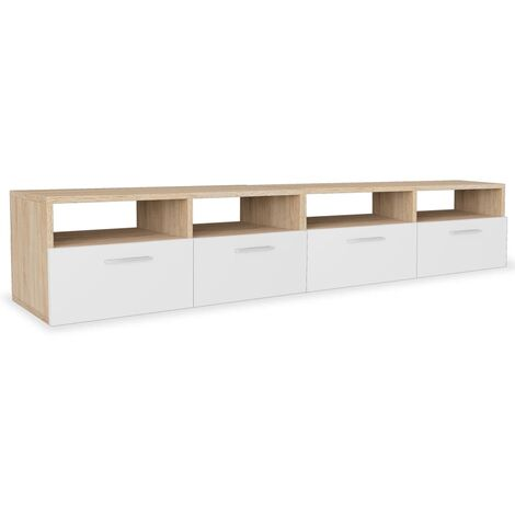 vidaXL TV Cabinets 2 pcs Chipboard 95x35x36 cm Home HiFi Storage Stand Unit TV Stand Storage Cabinet Living Room Bedroom Multi Colours
