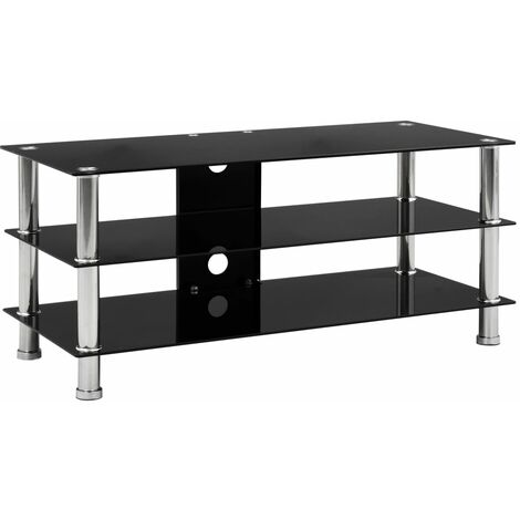 """main image of """"vidaXL TV Stand Living Room HiFi Media Stand Stereo Plasma Table Rack Shelves Cabinet Entertainment Centre Tempered Glass Multi Colours/Sizes"""""""