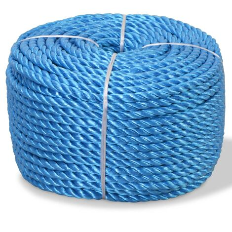 vidaXL Twisted Rope Weatherproof Wear Resistant Hardware Cable Twisted Cord work Rope Boat Line Polypropylene Multi Sizes Multi Colours