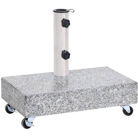 "main image of ""vidaXL Umbrella Base Light Grey 45x25x8.3 cm Granite - Grey"""