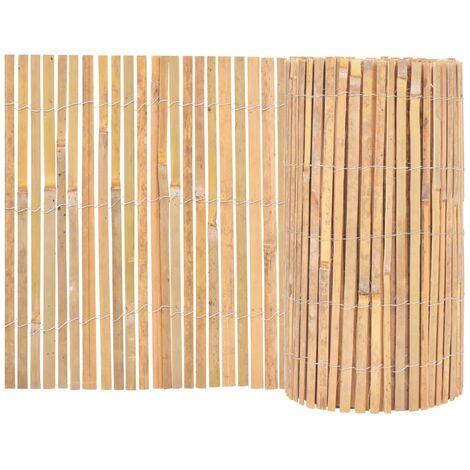 vidaXL Valla de Bambú de Jardín Patio Listones Césped Bordes Cercado Postes Flores Protección Separador Exterior 1000x30 cm/1000x50 m