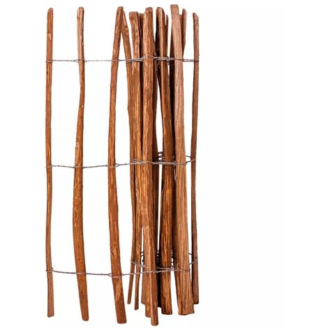 vidaXL Valla de estacas madera de avellano impregnada 120x250 cm