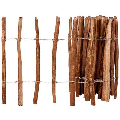 vidaXL Valla de estacas madera de avellano impregnada 60x500 cm