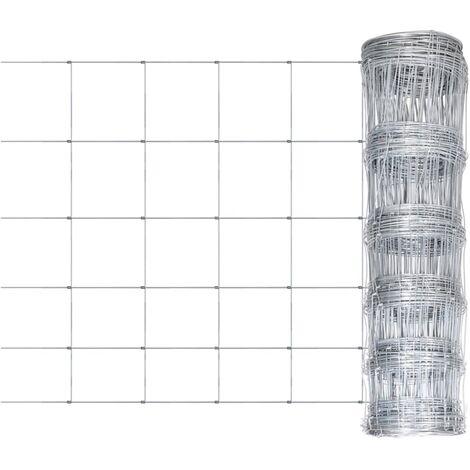 vidaXL Valla de jardín de acero galvanizado plateado 50x0,8 m - Plateado