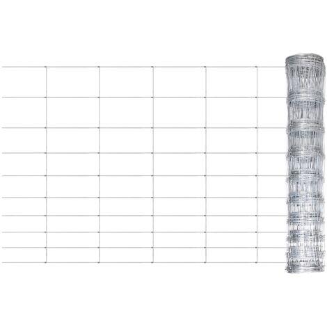 vidaXL Valla de jardín de acero galvanizado plateado 50x1 m - Plateado