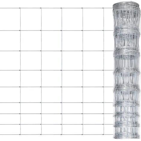 vidaXL Valla de jardín de acero galvanizado plateado 50x1,2 m - Plateado