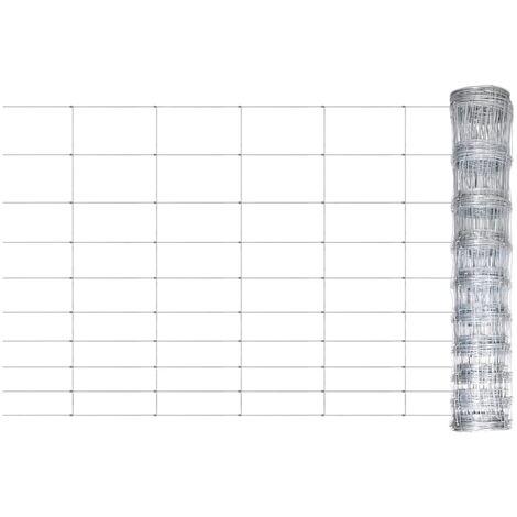 """main image of """"vidaXL Valla de jardín de acero galvanizado plateado 50x1,5 m - Plateado"""""""