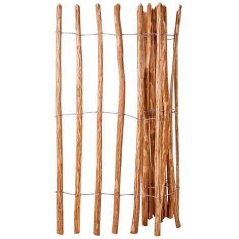 vidaXL Valla de jardín madera de avellano 150x250 cm - Marrón