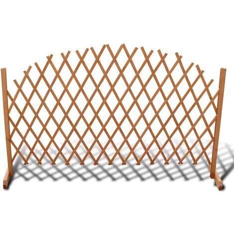 vidaXL Valla enrejada de madera maciza 180x100 cm - Marrón