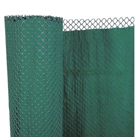 vidaXL Valla red cortavientos doble capa para jardín PE 1x3 m - Verde