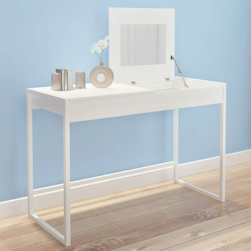 vidaXL Vanity Table White - White