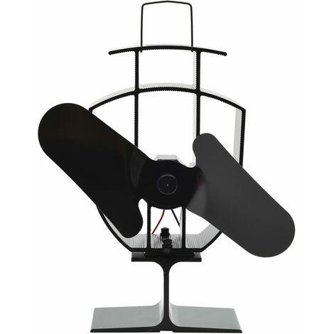 """main image of """"vidaXL Ventilador de Estufa Accionado por Calor Calentador Calefactor Habitación Circular Calor Chimenea Interior Hogar Negro Multimodelo"""""""