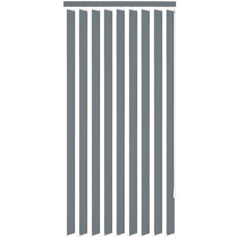 "main image of ""vidaXL Vertical Blinds Grey Fabric 150x180 cm - Grey"""