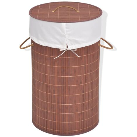 vidaXL Wäschekorb Wäschesammler Wäschetruhe Wäschebox Wäschetonne Korb Tonne Box Wäscheständer Wäschebehälter Bambus mehrere Auswahl