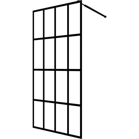 "main image of ""vidaXL Walk-in Shower Screen Tempered Glass 100x195 cm - Transparent"""