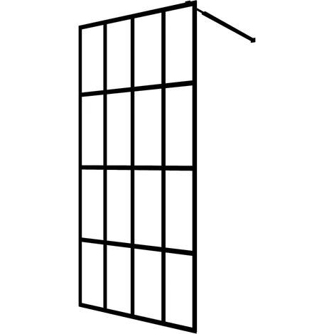 "main image of ""vidaXL Walk-in Shower Screen Tempered Glass 118x190 cm - White"""