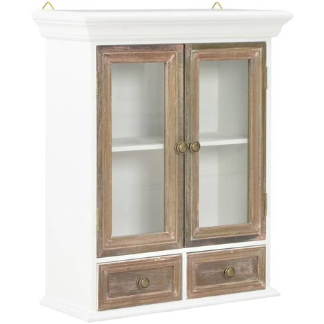 """main image of """"vidaXL Wall Cabinet White 49x22x59 cm Solid Wood - White"""""""