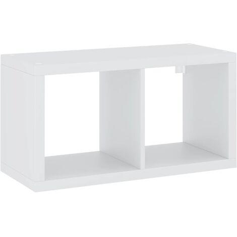 vidaXL Wall Cube Shelf White 69.5x29.5x37 cm MDF - White