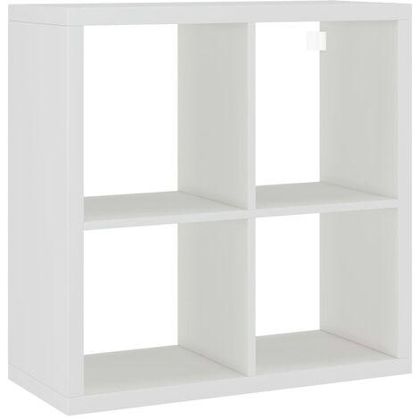 vidaXL Wall Cube Shelf White 69.5x29.5x69.5 cm MDF - White