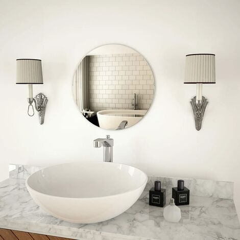 vidaXL Wall Mirror 40 cm Round Glass - Silver