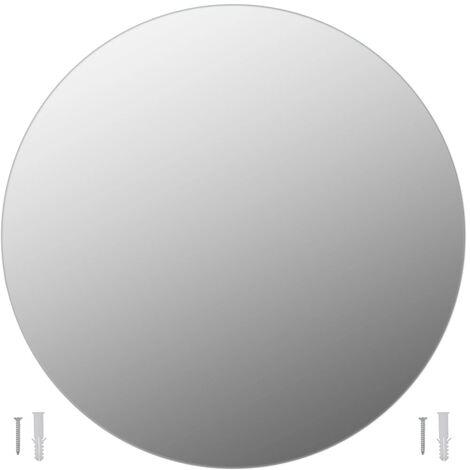 "main image of ""vidaXL Wall Mirror 50 cm Round Glass - Silver"""