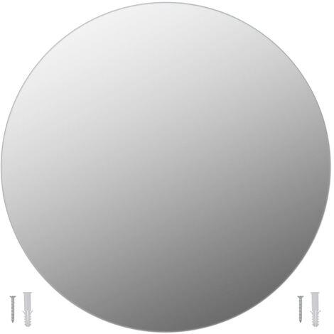 "main image of ""vidaXL Wall Mirror 60 cm Round Glass - Silver"""