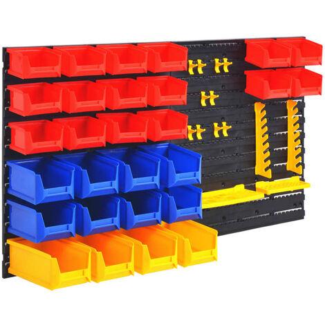 vidaXL Wall-Mountable Garage Tool Organiser - Multicolour