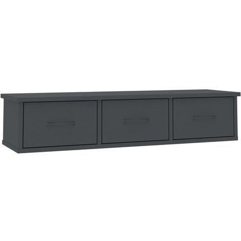 vidaXL Wall-mounted Drawer Shelf Home Bedroom Hallway Living Room Storage Wall Cabinet Floating Shlef Furniture Chipboard Multi Colours