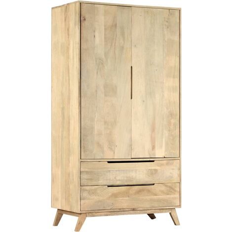 vidaXL Wardrobe 100x55x190 cm Solid Mango Wood - Brown