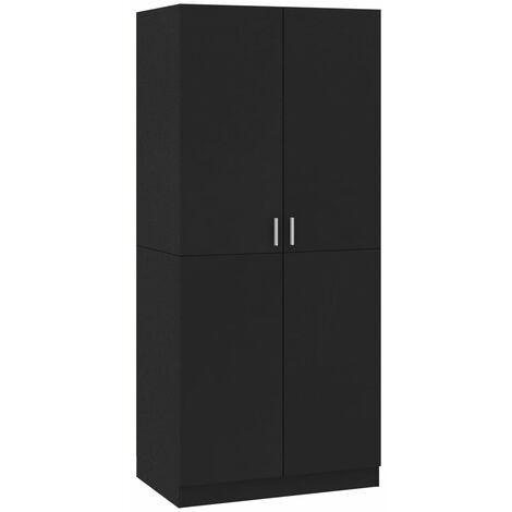 vidaXL Wardrobe 80x52x180 cm Chipboard Living Room Bedroom Clothing Cabinet Hanger Storage Shelf Organiser Home Furniture Multi Colours